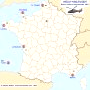 Carte des Bases Aéronavales de secours « SAR » (Search And Rescue) en France - (...)
