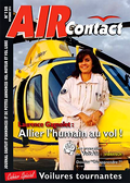 Couvertur de AIR Contact n°128 de novembre 2015 avec Laurence Gagnolet, Pilote chez INAER - Photo AIR Contact