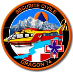 Écusson Dragon 74 de la Sécurité civile
