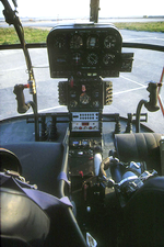 Cockpit Alouette III Dragon 06 - Photo D. Saint-Sanvain