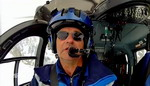 Le Commandant Patrick Guillou aux commandes de l'EC 145 du DAG de Chamonix, indicatif : Choucas 74 - Photo France 3