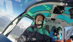 Le Pilote Pascal BRUN aux commandes de son AS350B3e - Photo DR