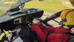 Pilote aux commandes de l'EC 145 F-ZBPW Dragon 74 - Photo DR