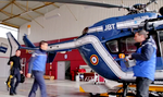L'EC 145 F-MJBT dans son hangar avant de partir en intervention - Photo DR