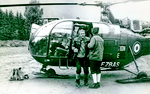 Alouette 3 F-ZBAS sans treuil au retour d'un secours en 1965 - Photo DR collection Stipe Zivaljic