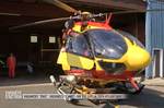 L'EC 145 Dragon est sorti de son hangar pour partir en interventions - Photo DR