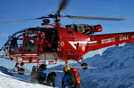 l'Alouette III Dragon 38 en intervention dans le massif - Photo GHSC
