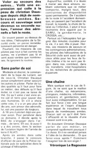 Article de journal sur le Pilote de Christian Dausque - 1er juillet 1994 - Document DR