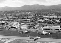 Vue d'ensemble de l'aéroport de Nice en 1961 - Photo DR