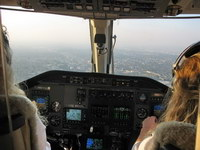 Stacy Sheard and Tracy Morgan Glatzhofer on board Bell 430 N901RL