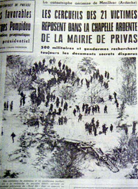 Article du journal de l'époque en janvier 1971 - Photo DR