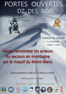 Affiche JPO du Secours en montagne 2017 - Photo DR