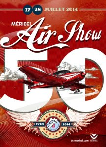 Affiche Méribel Air Show 2014 - 50 ans