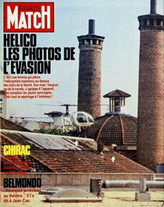 Les photos de l'évasion font la Une et la couverture de PARIS MATCH N°1932 du 6 juin 1986 - Photo DR Paris Match