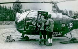 Alouette 3 F-ZBAS Protection civile à Chamonix en 1965 - Photo DR collection Stipe Zivaljic