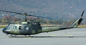 Le Bell UH-1D 71+84 sur le tarmac - Photo © Fabien Campillo