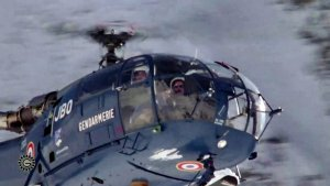Alouette 3 F-MJBO Gendarmerie en vol - Photo DR