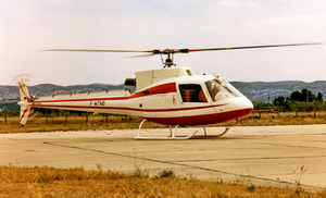 Le prototype AS350-001 immatriculé F-WTNB en1974 - Photo Airbus Helicopters