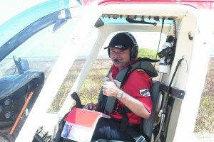 Le Capitaine Rick Dooley, PDG de Helicopter Seychelles Ltd - Photo Helicopter Seychelles