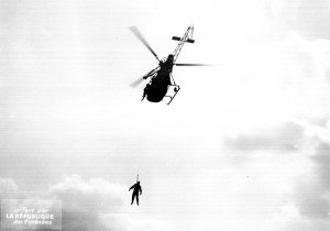 Hélitreuillage avec l'Alouette 2 F-ZBAF Protection civile vers 1964 - Photo DR